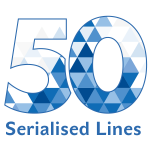 Sharp 50th serialized line