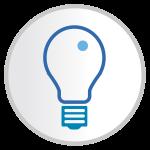 Sharp idea generation icon