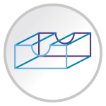 Sharp tray design icon
