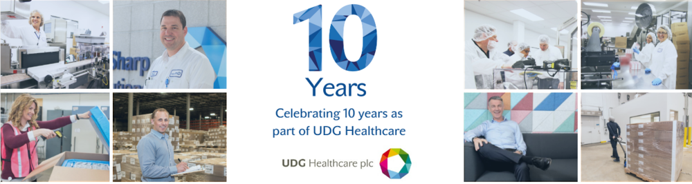Sharp 10 years as part of UDG Healthcare