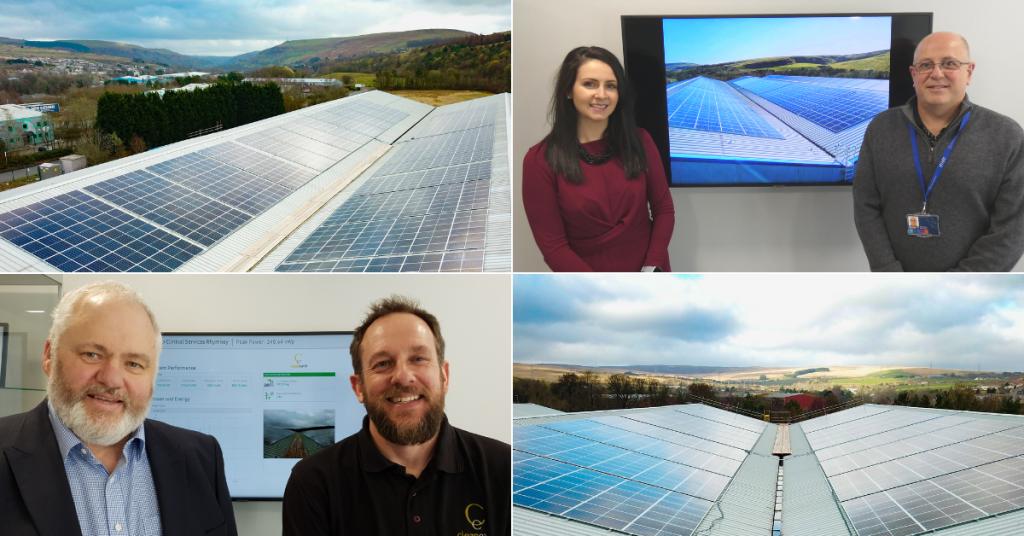 solar panels rhymney